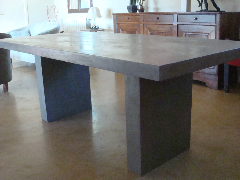 Table en beton comment faire - Table en beton cire ...