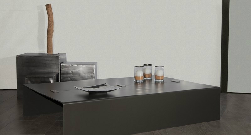 Table basse acier linea design industriel - Table basse acier design ...