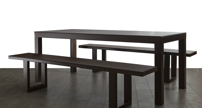TIKAL - Table acier design industriel